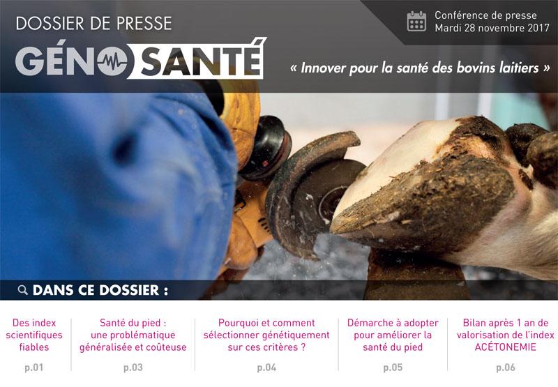 Couverture dossier de presse GénoSanté du 28 novembre 2017
